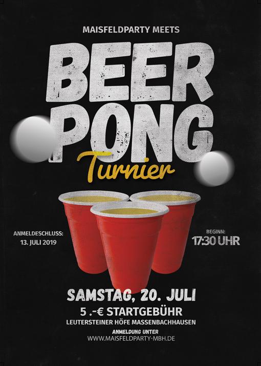 Beer Pong Flyer Maisfeldparty Massenbachhausen
